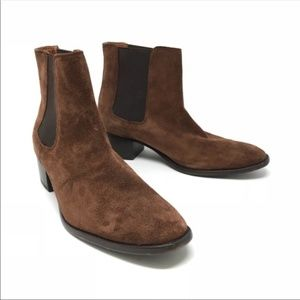 Frye Shoes - Frye Sz 9 Dara Brown Suede Heeled Ankle Boots